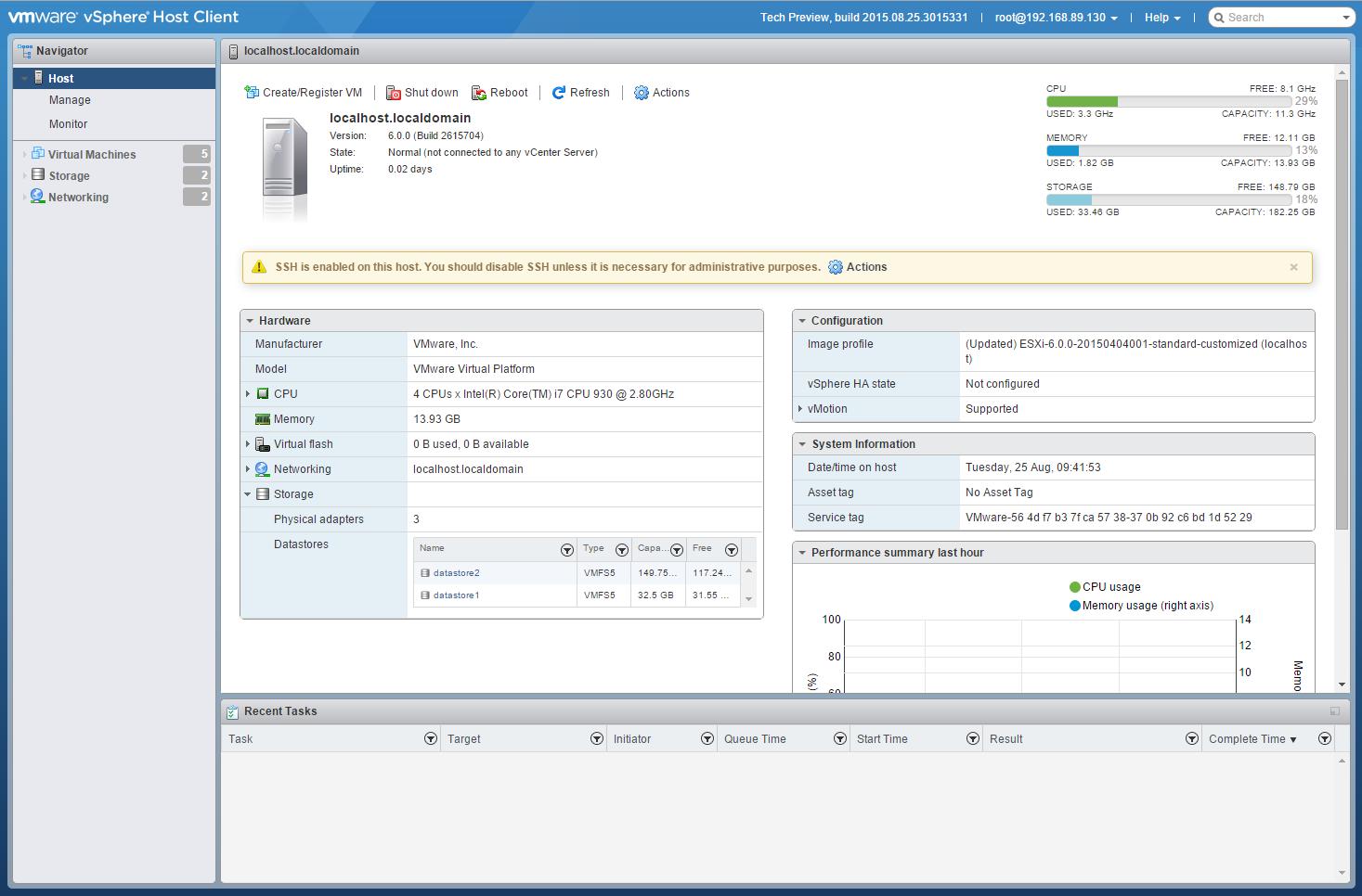 ESXi Embedded Host Client - luktom.net Vmware Ping Dup